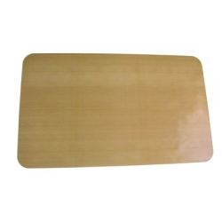 Siliconised fibre sheets for lining 10 L pastry / dough trays