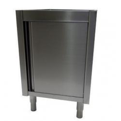 Low cupboard, hinged doors