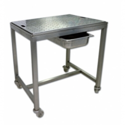 Perforated drain trolley