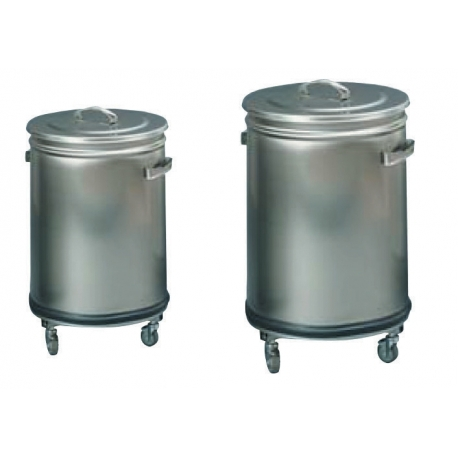 Round waste bin with removable lid