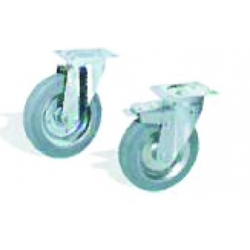 Kit of SS castors diam 100
