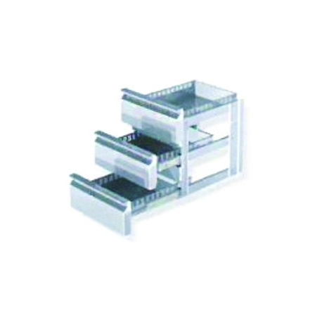 Block of 3 drawers in place of door in gn 1/3