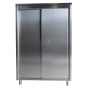 High cabinet with hinged doors