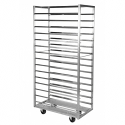 Fixed or rotating monobloc welded baking trolley