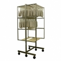 Built in trolley for dryer