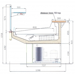 Module réfrigéré ventilé de boucherie