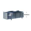 Ventilated positive refrigerated worktable - 400 x 600 - depth 800 mm - without generator