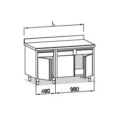 Compositions de meubles BANO LONGUEUR 1 500 mm